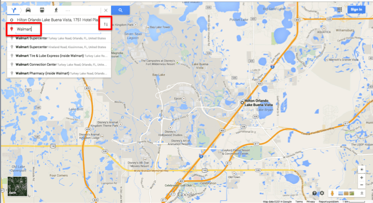 Walmart Orlando - Google Maps ScreenShot