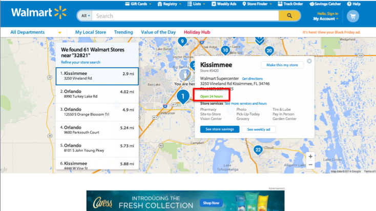 Walmart Website - ScreenShot